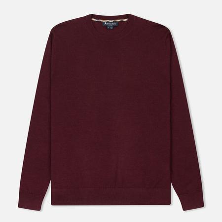Мужской свитер Aquascutum Carston Core Merino Bordeaux Melange