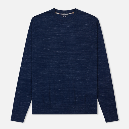 Мужской свитер Aquascutum Croft Crew Neck With Elbow Navy