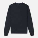 Мужской свитер Aquascutum Crowe Vee Knit Navy фото- 0