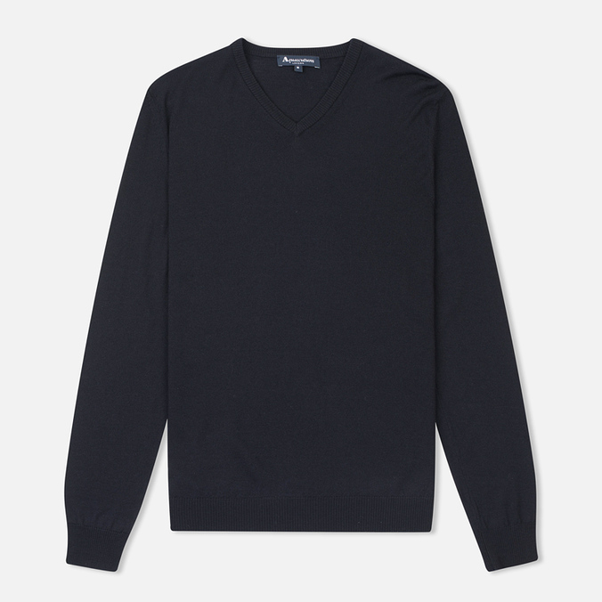 Мужской свитер Aquascutum Crowe Vee Knit Navy