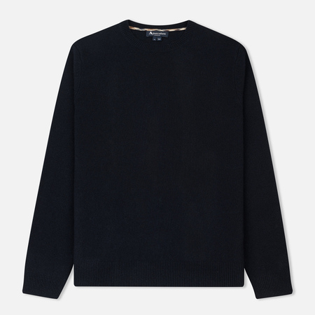 Мужской свитер Aquascutum Pennington Club Check Elbow Patch Navy