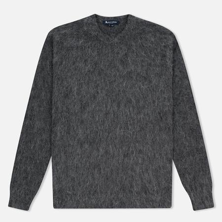 Aquascutum Victor Alpaca Crew Neck Men's Sweater Charcoal