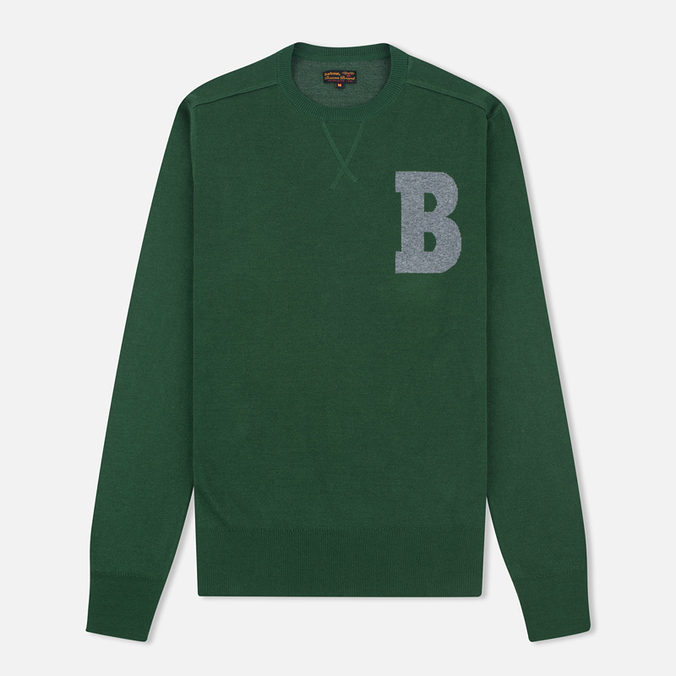 Мужской свитер Barbour B Crew Neck Racing Green