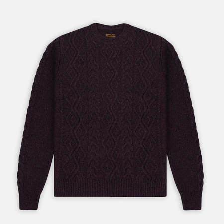 Мужской свитер Barbour Barnard Crew Neck Merlot Mix