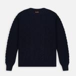 Мужской свитер Barbour Barnard Crew Neck Navy фото- 0