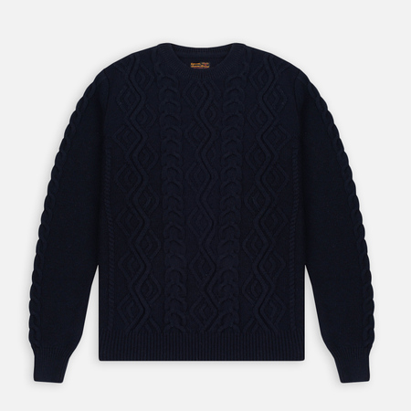 Мужской свитер Barbour Barnard Crew Neck Navy