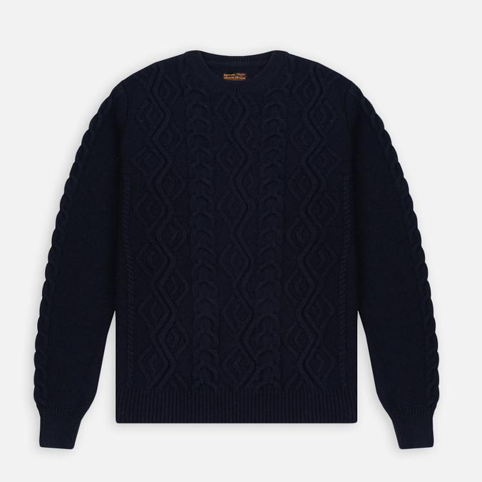 Barbour Barnard Crew Neck Men's Sweater Navy