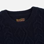 Мужской свитер Barbour Barnard Crew Neck Navy фото- 1