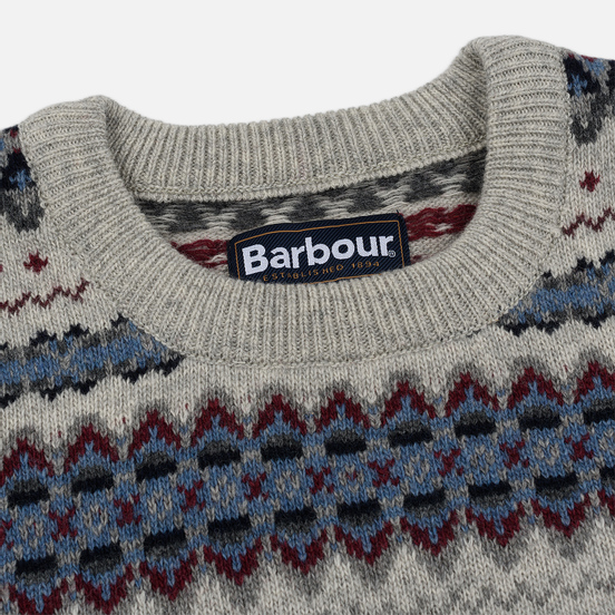 Мужской свитер Barbour Case Fairisle Crew Fog