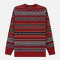 Мужской свитер Barbour Case Fairisle Crew Rich Red фото - 0
