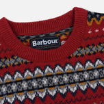 Мужской свитер Barbour Case Fairisle Crew Rich Red фото- 1