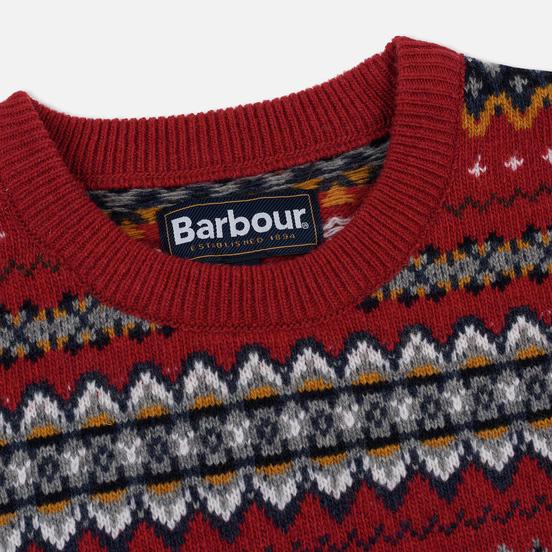 Мужской свитер Barbour Case Fairisle Crew Rich Red