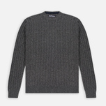 Мужской свитер Barbour Essential Cable Crew Grey Marl фото- 0