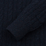 Мужской свитер Barbour Essential Cable Crew Indigo фото- 2