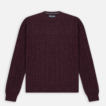 Мужской свитер Barbour Essential Cable Crew Merlot