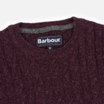 Мужской свитер Barbour Essential Cable Crew Merlot фото- 1