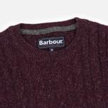 Barbour Essential Cable Crew Men's Sweater Merlot photo- 1