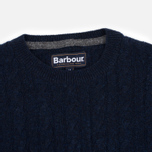 Мужской свитер Barbour Essential Cable Crew Navy фото- 1