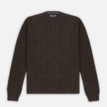 Barbour Essential Cable Crew Men's Sweater Olive photo- 0