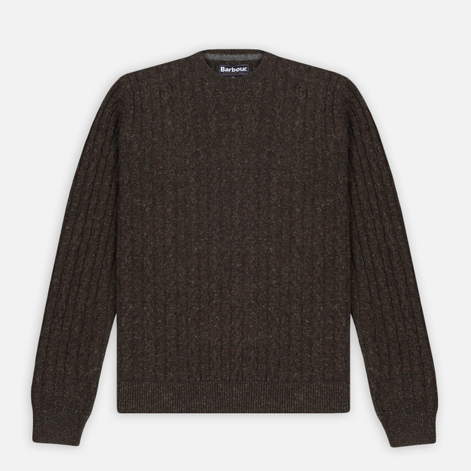 Barbour Essential Cable Crew Men's Sweater Olive