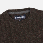 Barbour Essential Cable Crew Men's Sweater Olive photo- 1