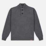 Мужской свитер Barbour Essential Chunky Half Button Grey Marl фото- 0