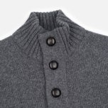 Мужской свитер Barbour Essential Chunky Half Button Grey Marl фото- 1
