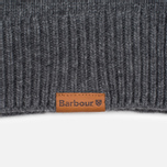 Мужской свитер Barbour Essential Chunky Half Button Grey Marl фото- 3