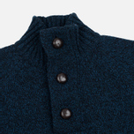 Мужской свитер Barbour Essential Chunky Half Button Navy Mix фото- 1