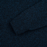 Мужской свитер Barbour Essential Chunky Half Button Navy Mix фото- 2