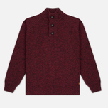Мужской свитер Barbour Essential Chunky Half Button Red фото- 0
