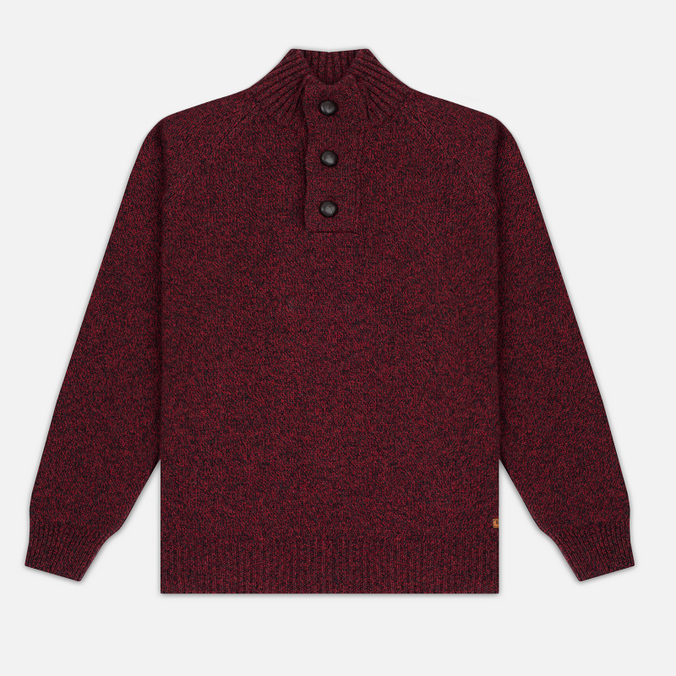 Мужской свитер Barbour Essential Chunky Half Button Red
