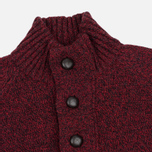 Мужской свитер Barbour Essential Chunky Half Button Red фото- 1
