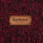 Мужской свитер Barbour Essential Chunky Half Button Red фото- 3