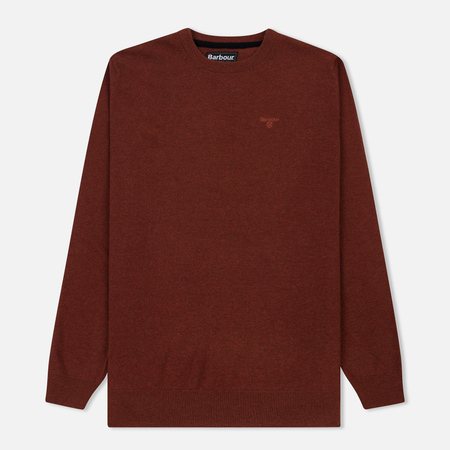 Мужской свитер Barbour Essential Lambswool Crew Neck Dark Clay
