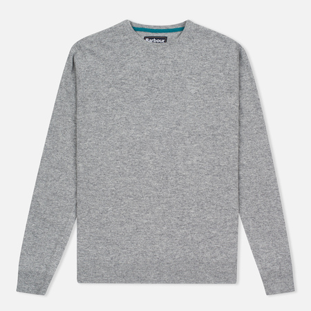 Мужской свитер Barbour Essential Lambswool Crew Neck Grey
