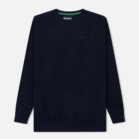 Мужской свитер Barbour Essential Lambswool Crew Neck Navy