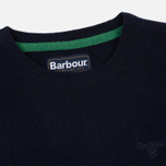 Мужской свитер Barbour Essential Lambswool Crew Neck Navy фото- 1