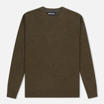 Мужской свитер Barbour Essential Lambswool Crew Neck Olive фото- 0
