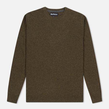 Barbour Essential Lambswool Crew Neck Men's Sweater Olive