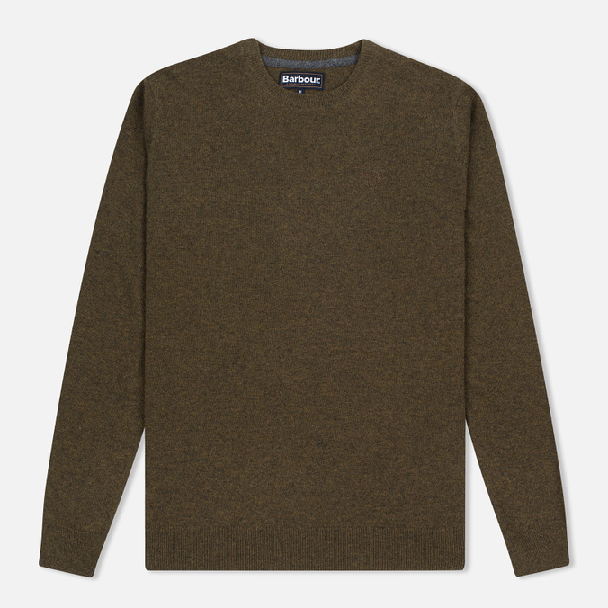 Мужской свитер Barbour Essential Lambswool Crew Neck Olive