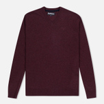 Мужской свитер Barbour Essential Lambswool V-Neck Merlot фото- 0