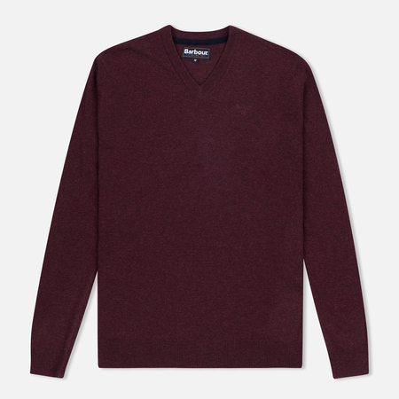 Мужской свитер Barbour Essential Lambswool V-Neck Merlot