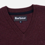 Мужской свитер Barbour Essential Lambswool V-Neck Merlot фото- 1