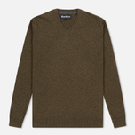 Barbour Essential Lambswool Men's Sweater Olive photo- 0