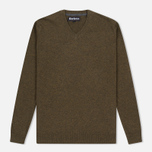 Мужской свитер Barbour Essential Lambswool V-Neck Olive фото- 0