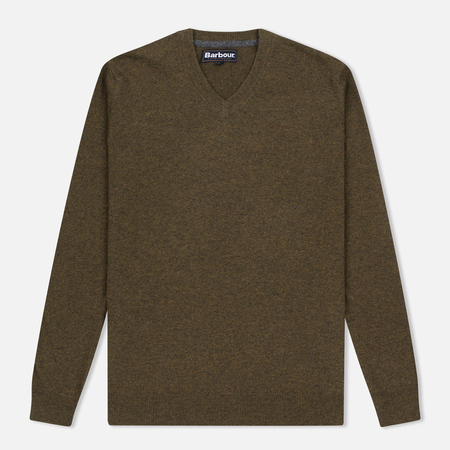 Мужской свитер Barbour Essential Lambswool V-Neck Olive