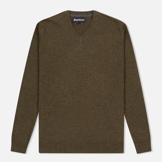 Barbour Essential Lambswool Men's Sweater Olive