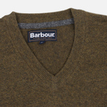 Мужской свитер Barbour Essential Lambswool V-Neck Olive фото- 1