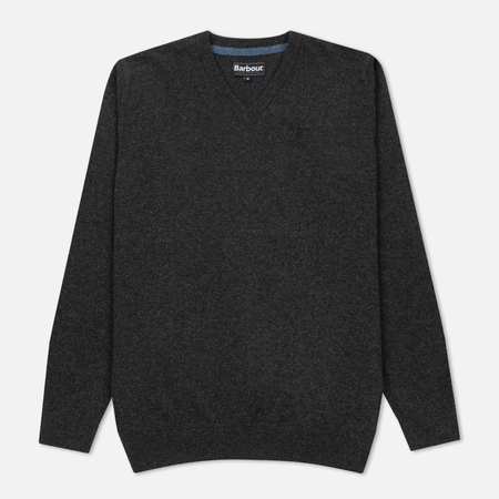 Мужской свитер Barbour Essential Lambswool V-Neck Charcoal